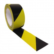 YELLOW & BLACK HAZARD TAPE