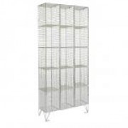 15 DOOR WIRE MESH LOCKER