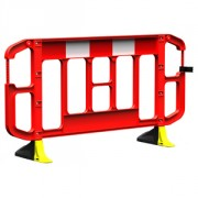 2 METRE RED TITAN BARRIER C/W