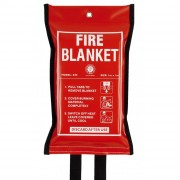 RED FIRE BLANKET 1.2M X 1.2M